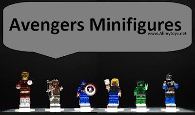 Lego Transparent Avengers Minifigures