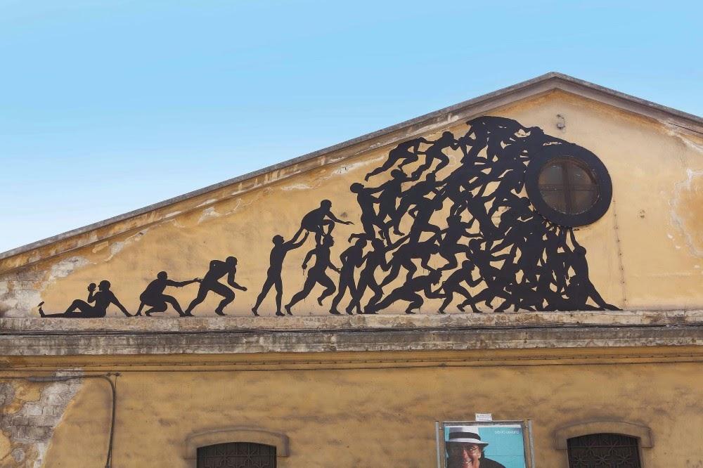 Sam3 street art in bari italy