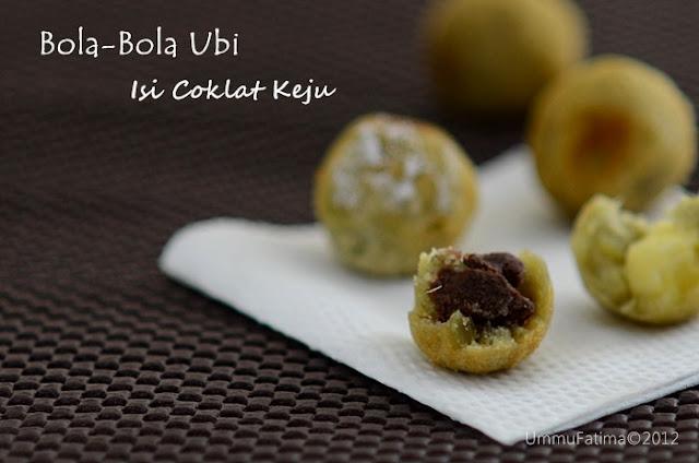bola-bola ubi isi coklat keju