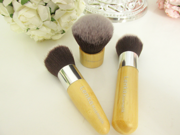 Lenka Kosmetik - 11 Professionelle Bambus Makeup Pinsel Set - große Pinsel Kabuki Blush, Rouge