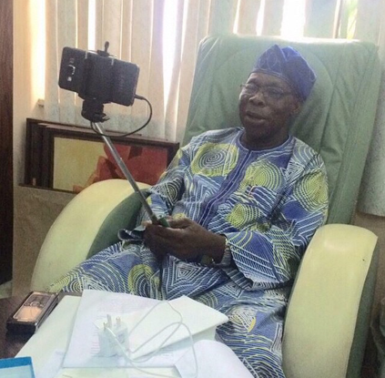 obasanjo selfie photo