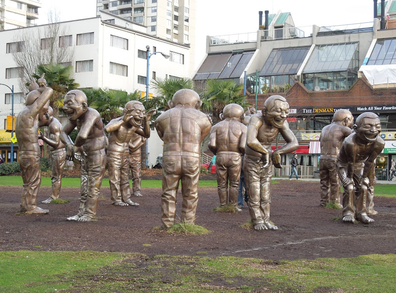 Vancouver's A-maze-ing Laughter statues