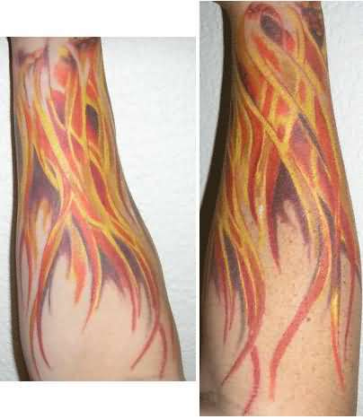 amazing fire flame tattoo designs japanese tattoos. Black Bedroom Furniture Sets. Home Design Ideas
