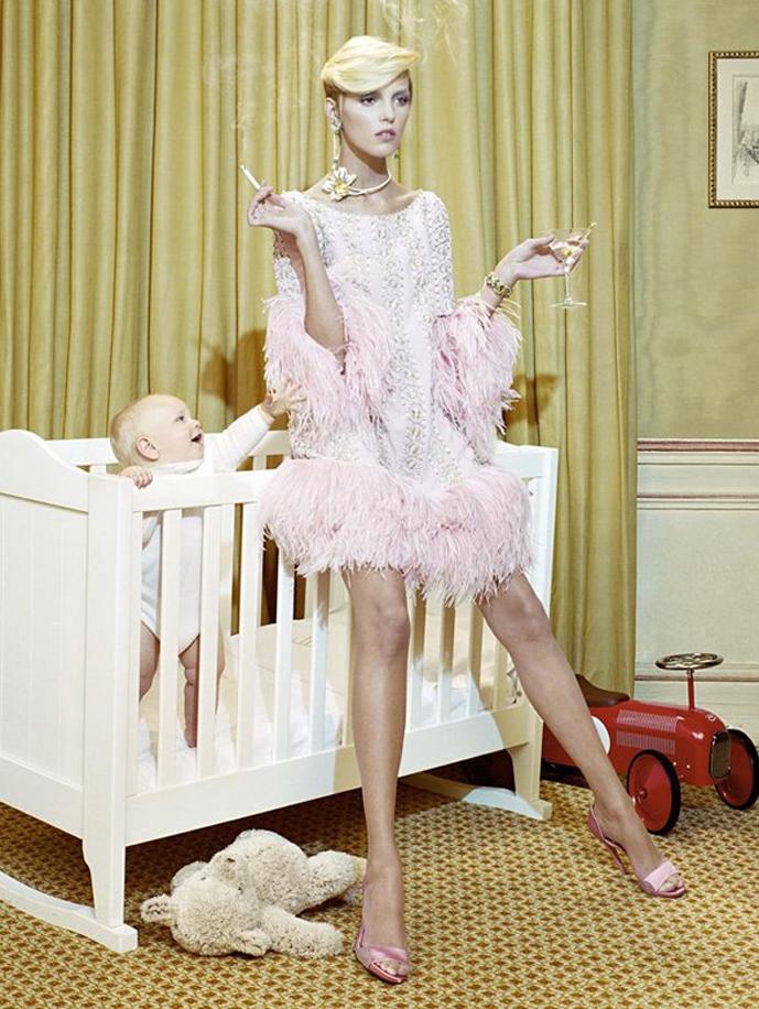 Anja Rubik in The vagaries of fashion / Vogue Italia September 2007 (photography: Miles Aldridge) via fashioned by love british fashion blog