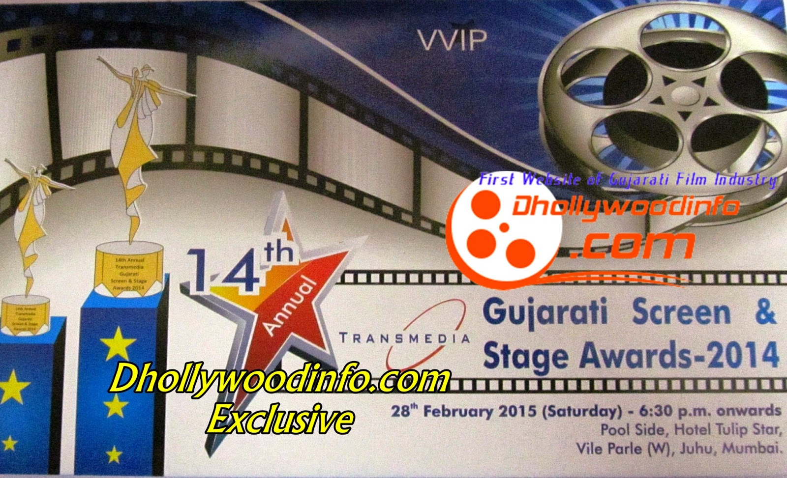 Transmedia Gujarati Screen & Stage Awards 2014 in Mumbai on 28th Feb 2015