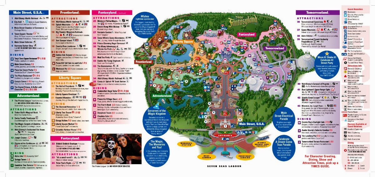 Mapa do Parque Disney Magic Kingdom