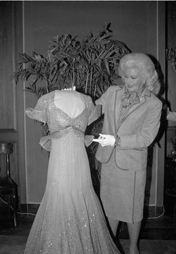 Ginger presents her Piccolino dress from Top Hat to the National    Ginger Rogers Dress In Top Hat