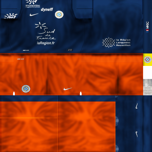 Kit Montpellier 2012/2013 by Marce - PES 6