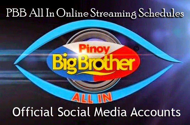 PBB All In Online Streaming Schedules and Official Social Media Accounts