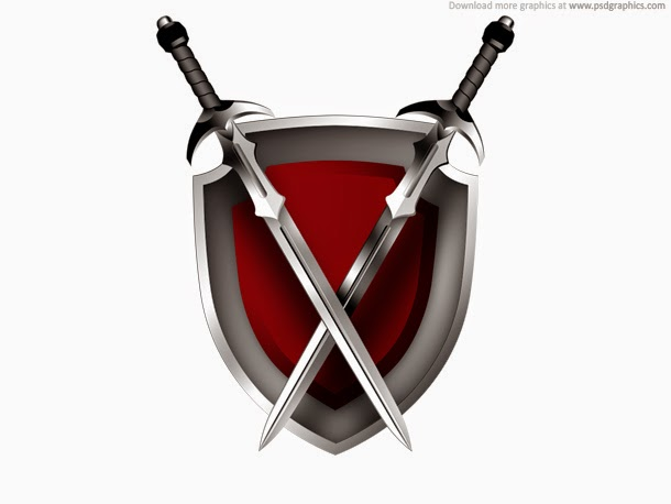 Swords and Shield Icon PSD
