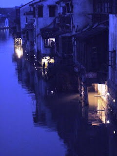 indigo, canal, Suzhou, China