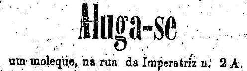 Propaganda de 1976 onde anunciavam uma criança como escrava. Anúncio veiculado no jornal 'O Estado de São Paulo'