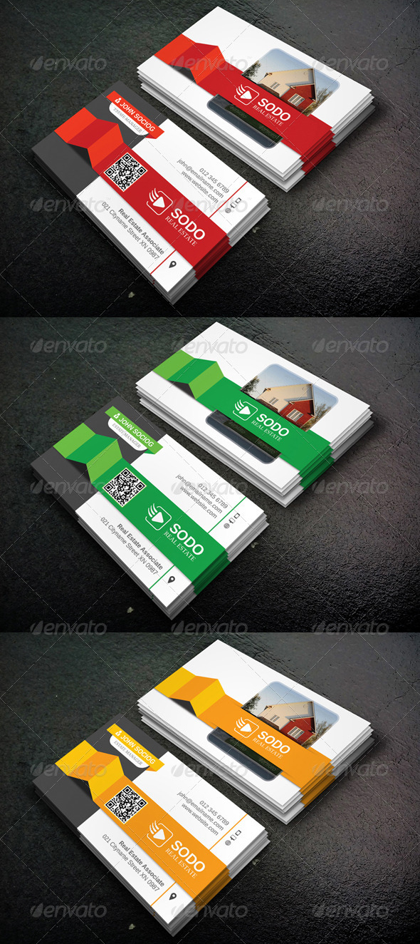 Top 10 Best Real Estate Business Cards Templates - graphicbattle