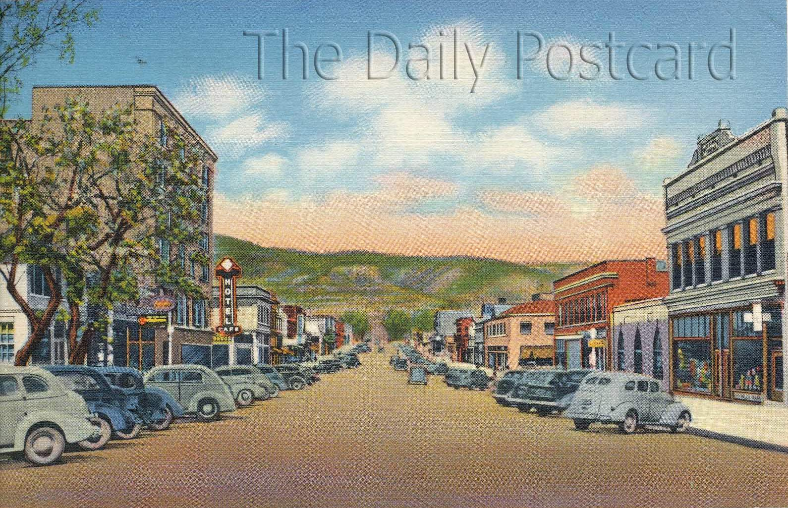 The Daily Postcard Main Streets In Raton And Clovis New Mexico