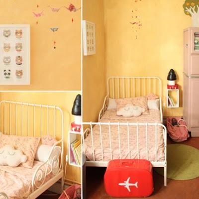 Habitación los colores cálidos niña