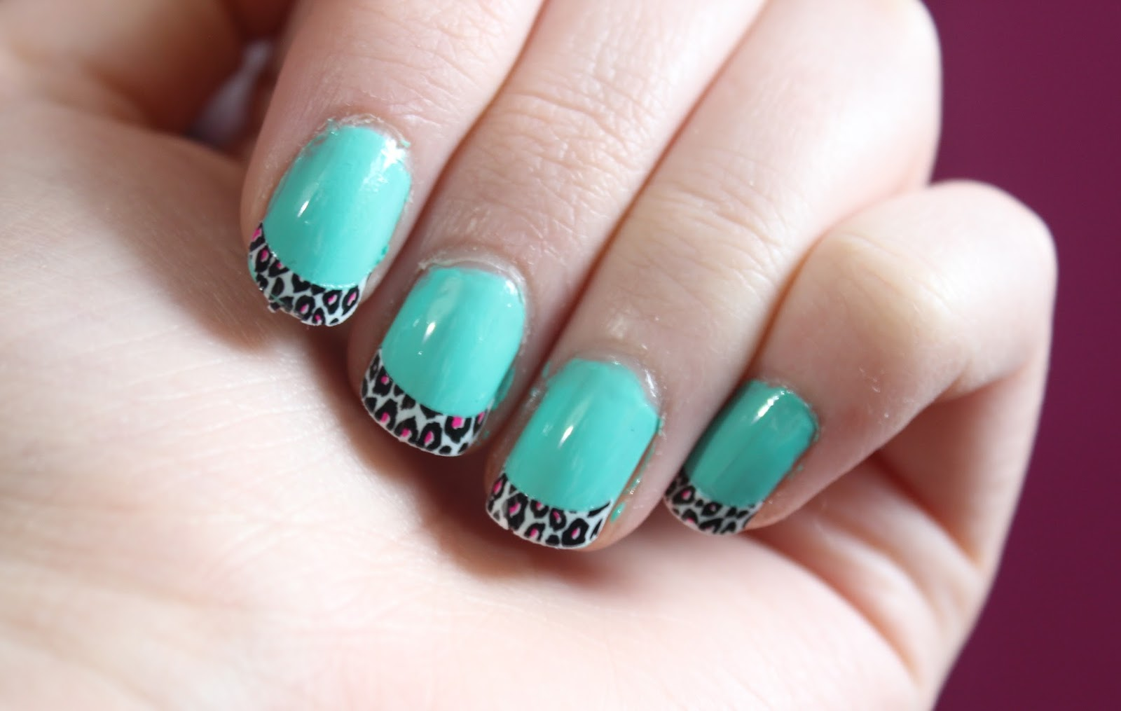 Avon Leopard Print Nail Tips