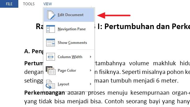 Memproteksi Dokumen Office Word 2013 Agar Tidak Bisa Diedit