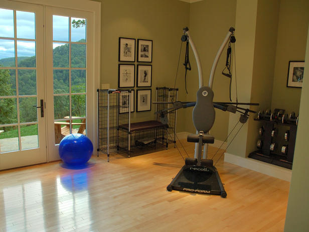 Rachel Olsen Home Gym Workout Spaces - Home gym for small spaces