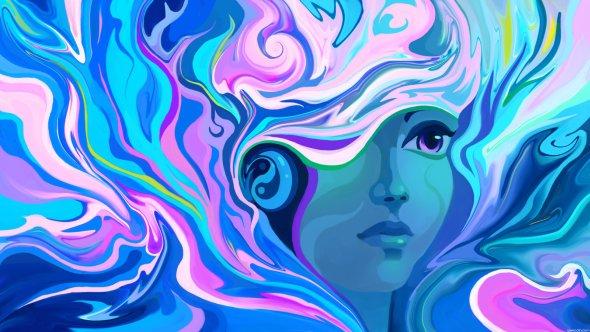 Alex Tooth deviantart ilustrações mulheres surreal psicodélicas coloridas