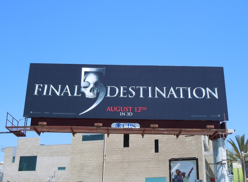 Final Destination 5 movie billboard