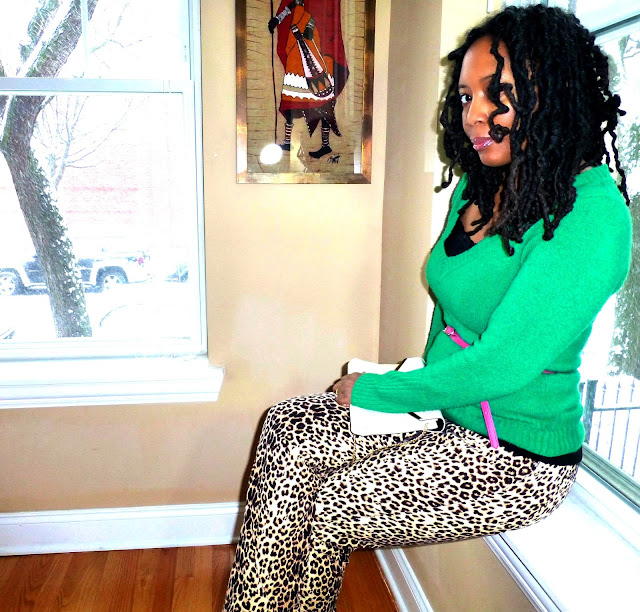 Thrift Find leopard print jeans
