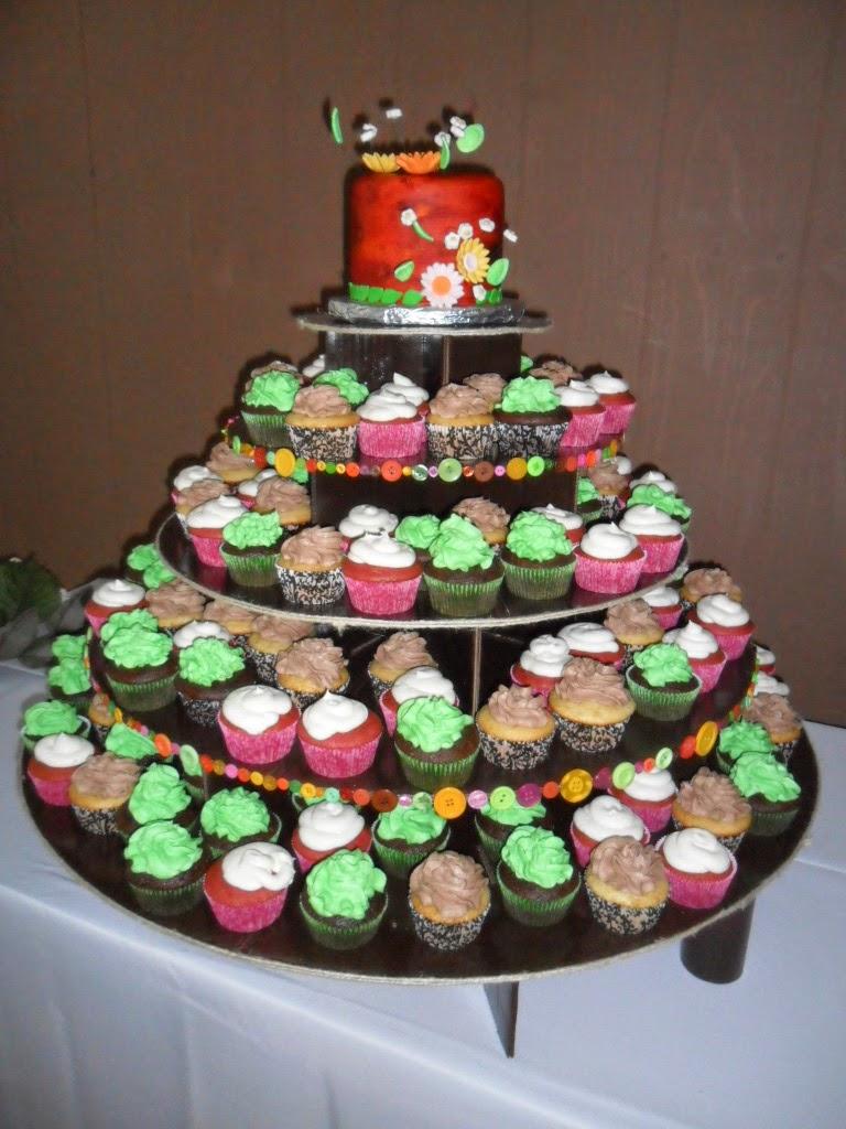 Larry the Cake Guy: Tree Bark Wedding Cake and Cupcakes