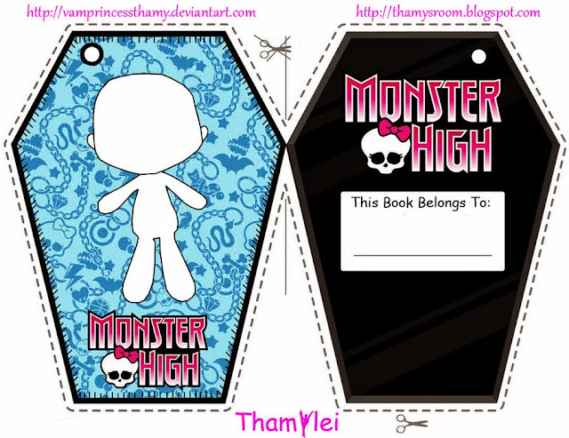Monster High: marcapáginas para imprimir gratis.