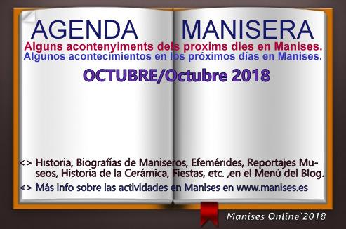 AGENDA MANISERA, OCTUBRE 2018