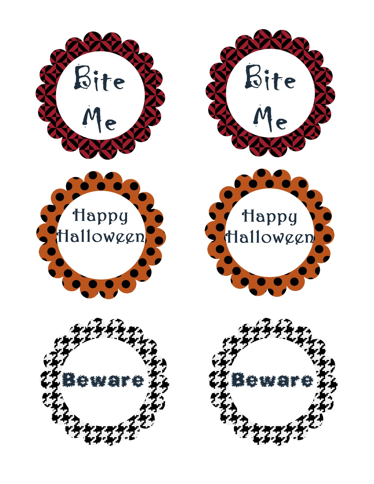 Lucky For You, I Am Sharing The Halloween Tags I Created For These  Spookilicious Treats!