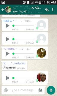 Voice messages in WhatsApp