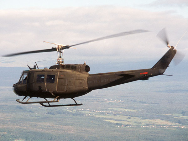 Bell UH-1 Iroquois Military Helicopter