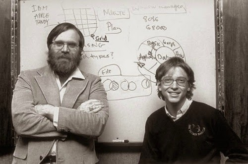 Bill Gates and Paul Allen founded Microsoft in a garage