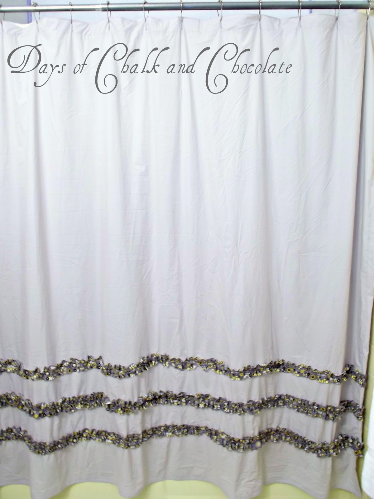 Days of Chalk and Chocolate: Shower Curtain