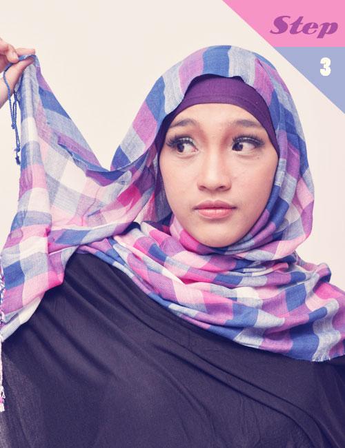 3 Langkah Mudah Memakai Jilbab Cantik dan Modis Untuk Kuliah