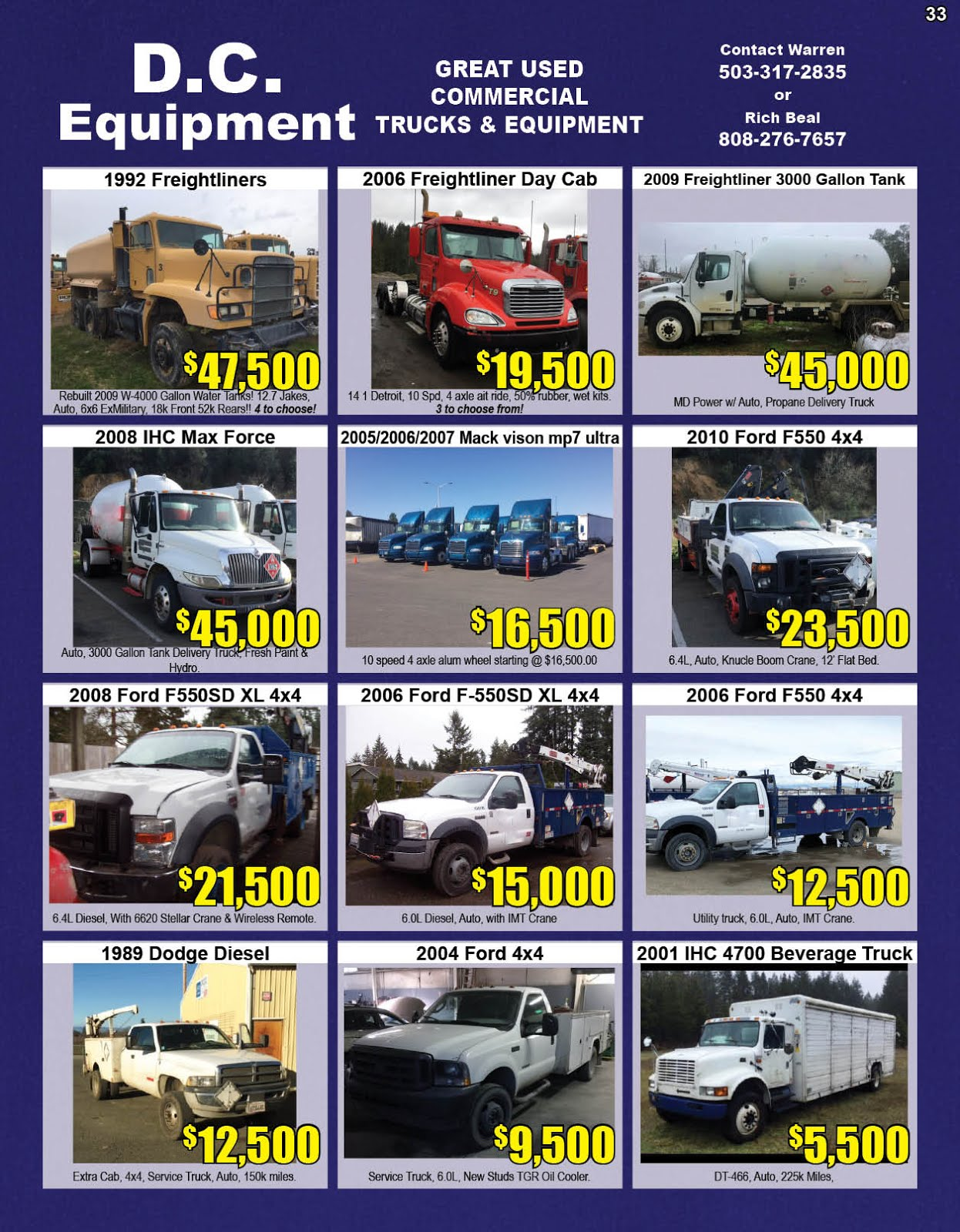 D.C. Equipment Commercial Truck & Equipment Sales
