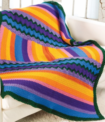 Stripes & Rickrack Throw - Free Pattern