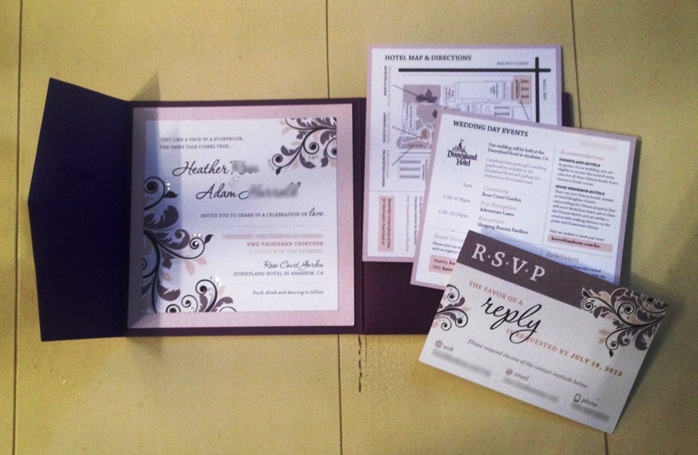 diy fairy tale wedding invitations - this fairy tale life, Wedding invitations