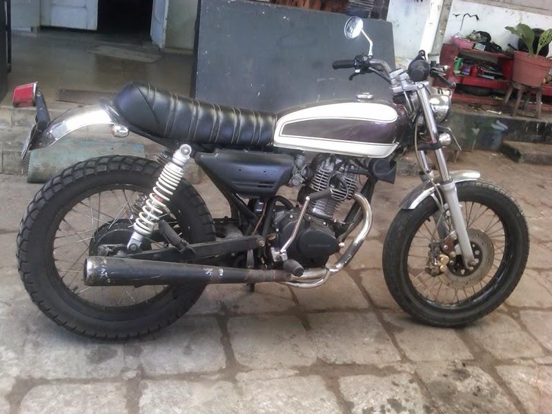 Modifikasi Motor Honda GL 100  Bradstyle