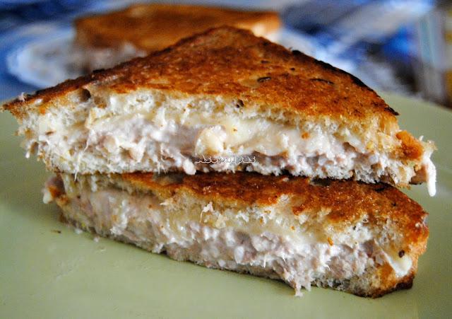 Tuna Melt Sándwich de ensalada de atún y queso