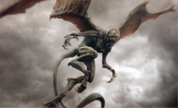 Tsvetomir Georgiev ilustrações artes conceituais e modelos 3D filmes Criatura alada