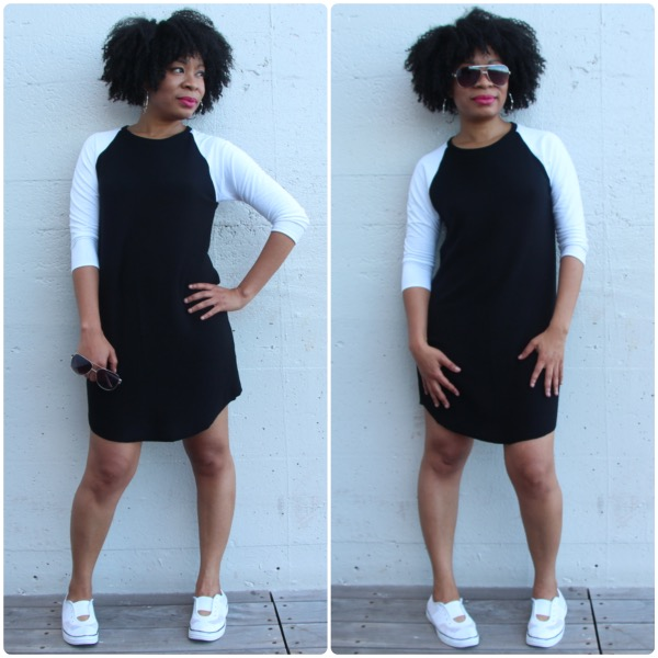 sewing black and white raglan mini dress diystyle