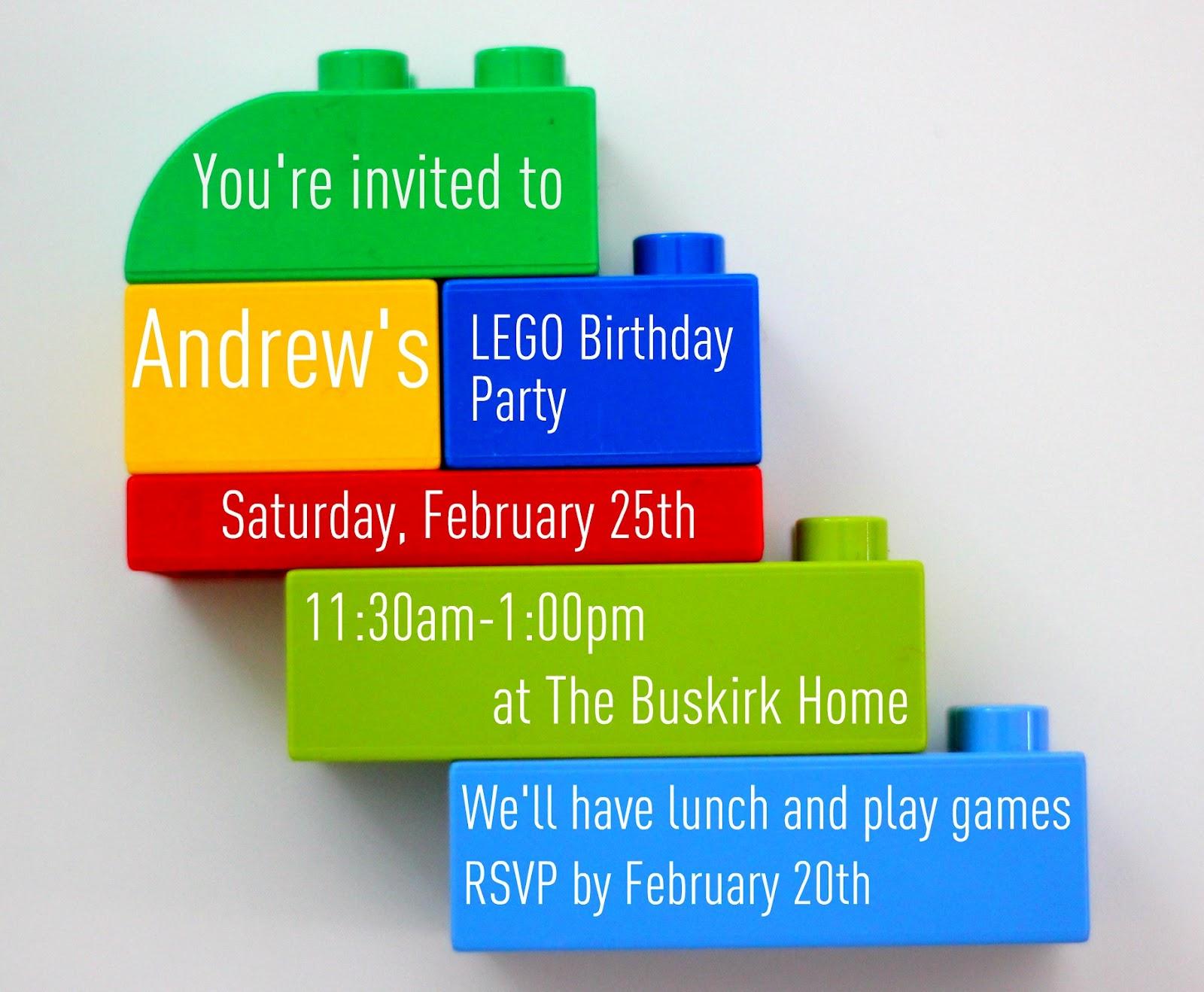 The K&K Report: Andrew\'s Lego Birthday Party!
