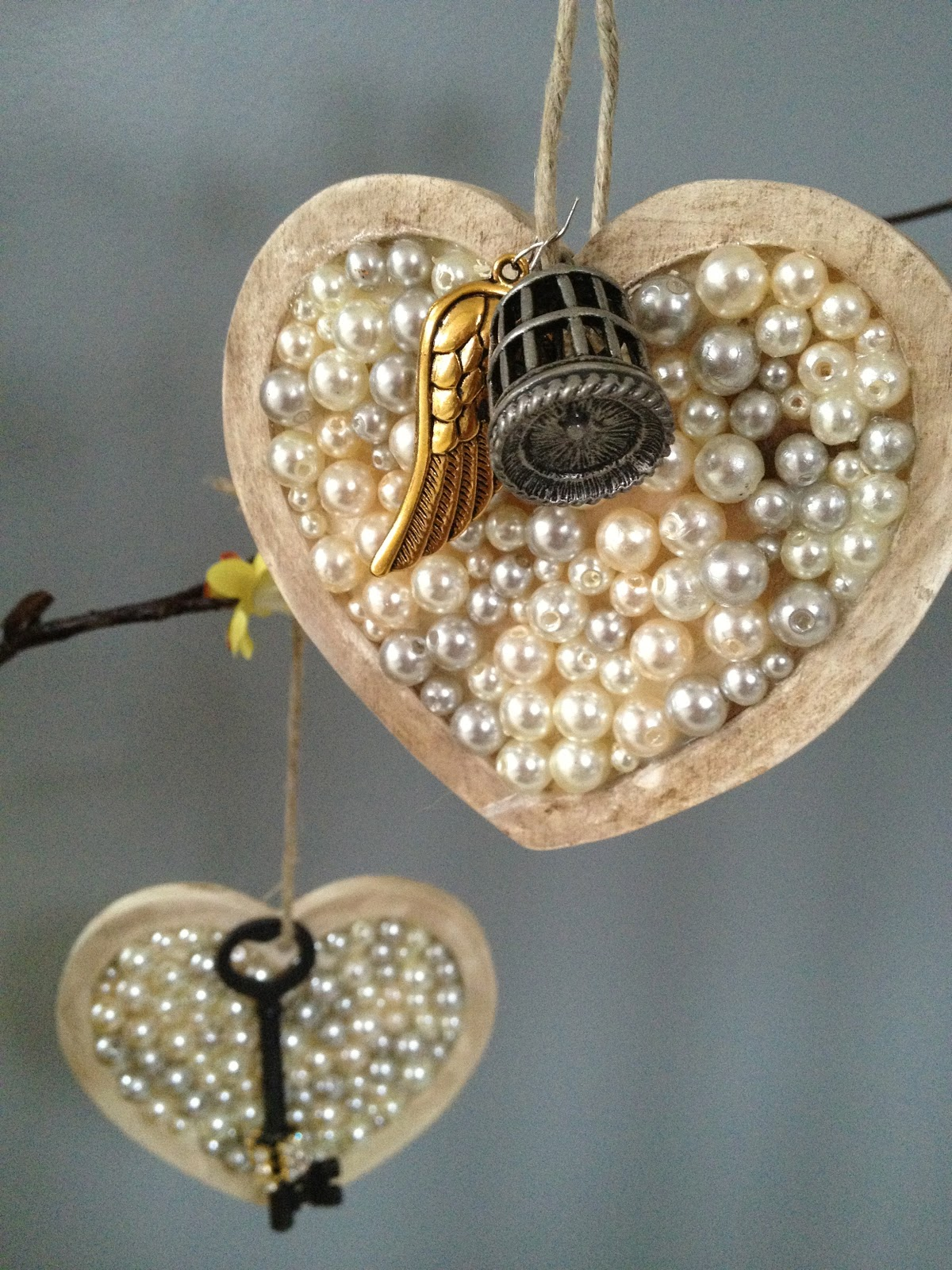 My Twig And Twine Nest Crafting Beaded Hearts For