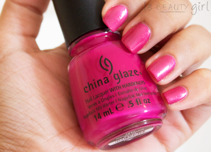 Nails: Fuchsia Fanatic + Kisses & Bises