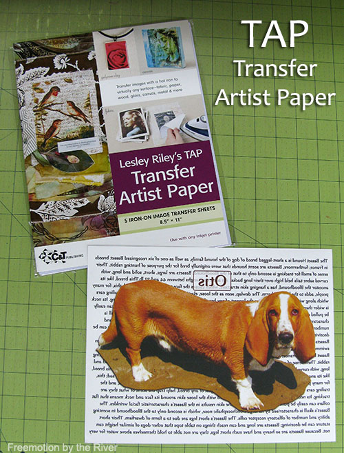 TAP Transfer Artist Paper used with dog print