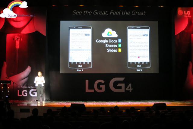LG G4 Google docs
