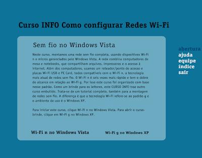 CURSO INFO COMO CONFIGURAR REDES WI-FI
