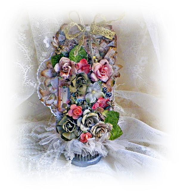 "Gilded Lily Tag created by Lisa Novogrodski for Scraps of Elegance using the September Kit ""Lisa's Sweet September"""