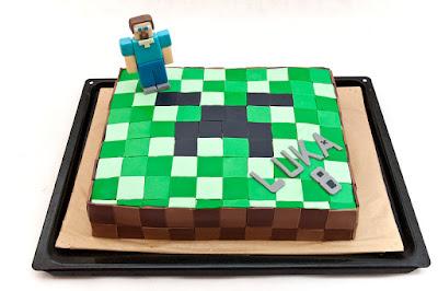 Torta Minecraft - Minecraft cake