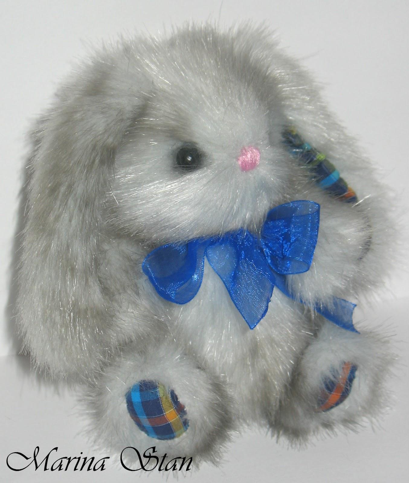 Зайчик из меха кролика своими руками 89